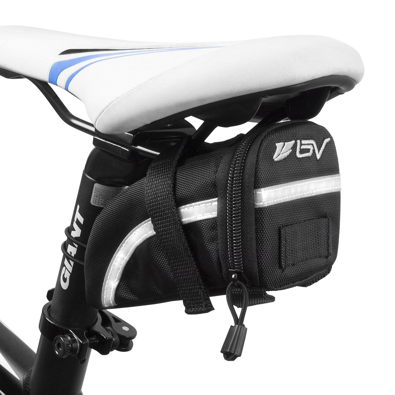 BV Bicycle Strap-On Saddle Bag, Inside Mesh Pocket
