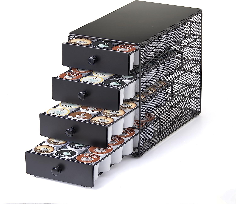 Nifty 4-Tier 72 K-Cup Capacity Storage Drawer Black