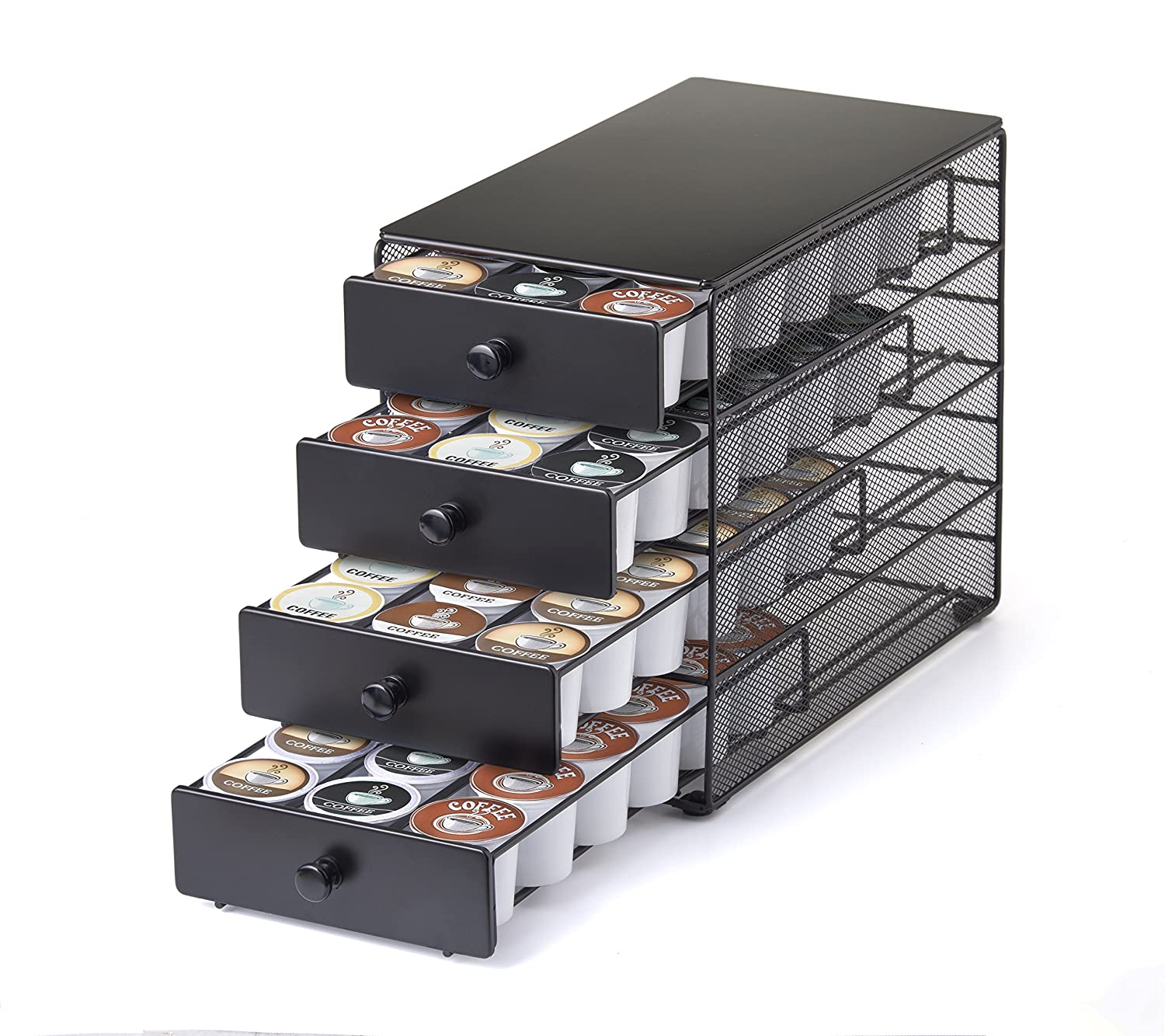 Nifty 4-Tier 72 K-Cup Capacity Storage Drawer, Black 6472