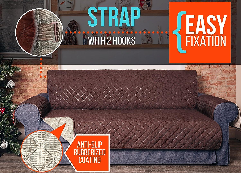 Amazon.com: Sofá de piel cubierta – sofá de piel – sofá de ...
