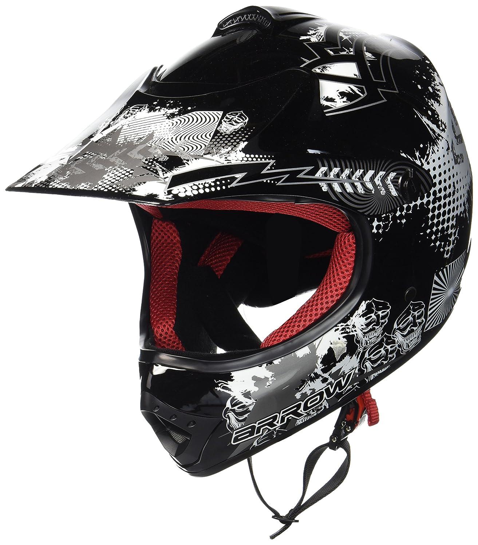 """57-58cm red Armor /· AKC-49 /""""Red/"""" /· Casco Moto-Cross /· Racing Quad Scooter Off-Road Motocicletta Bambino /· DOT certificato /· Click-n-Secure/™ Clip /· Borsa per il trasporto /· L"""