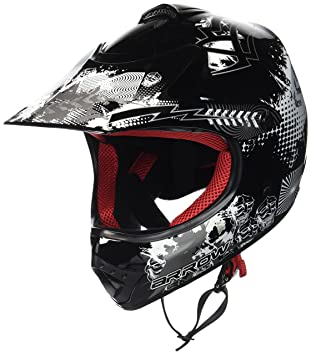 "ARMOR · AKC-49 ""Limited Green"" · Kinder-Cross Helm · Motorrad Kinder Sport Moto-Cross Off-Road Enduro · DOT certified · Click-n-Secure™ Clip · Tragetasche · XS Grün 51-52cm"