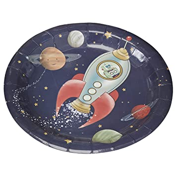 Ginger Ray Spaceship Robot Paper Kids Party Plates - Space Adventure Party  sc 1 st  Amazon UK & Ginger Ray Spaceship Robot Paper Kids Party Plates - Space Adventure ...