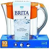 Brita Grand 80-Ounce Water Filtration Pitcher, Orange