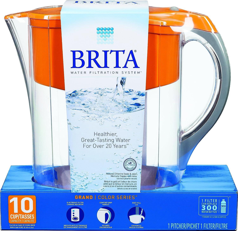 Amazoncom Brita Grand 80 Ounce Water Filtration Pitcher Orange
