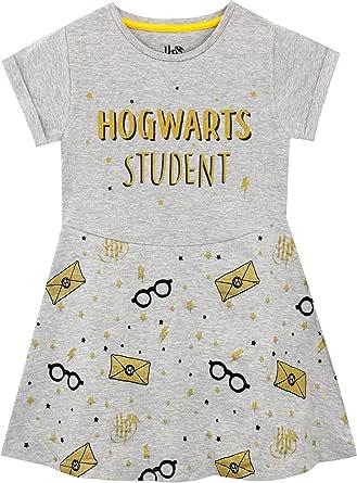 Harry Potter Vestido para niñas Hogwarts