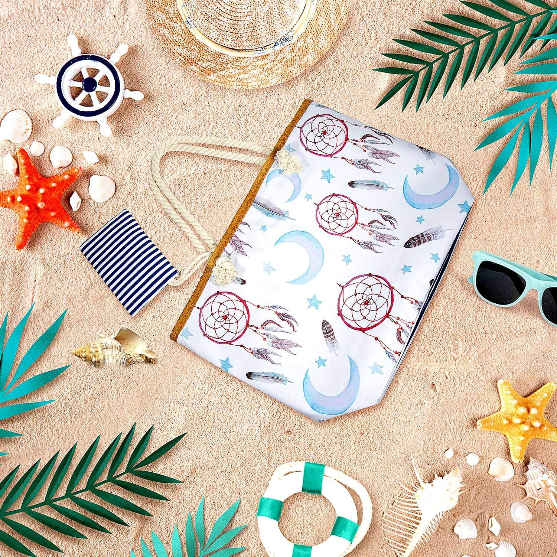 Verano Bolsa de Playa Grande con Cremallera de Viaje Joeyer Bolsa de Playa