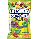 LIFE SAVERS Sours Gummies Candy Bag, 7 ounce (Pack of 12)