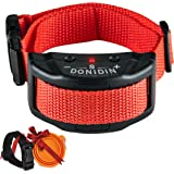 No Bark Dog Collar ~ Safely Stops Incessant Barking, 7 Sensitivity Levels for Small, Medium & Large Dogs (18-120 lbs.), Uses Humane Static Stimulation With Extra Bonuses by Donidin