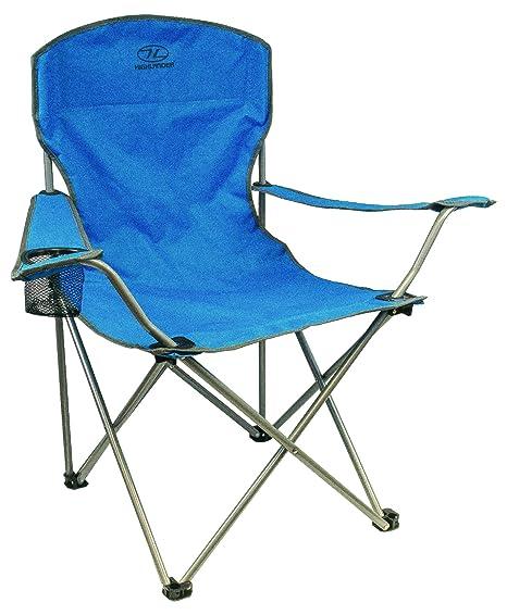 Sedie Da Campeggio Pieghevoli.Highlander Sedia Da Campeggio Pieghevole Blu Amazon It Sport E