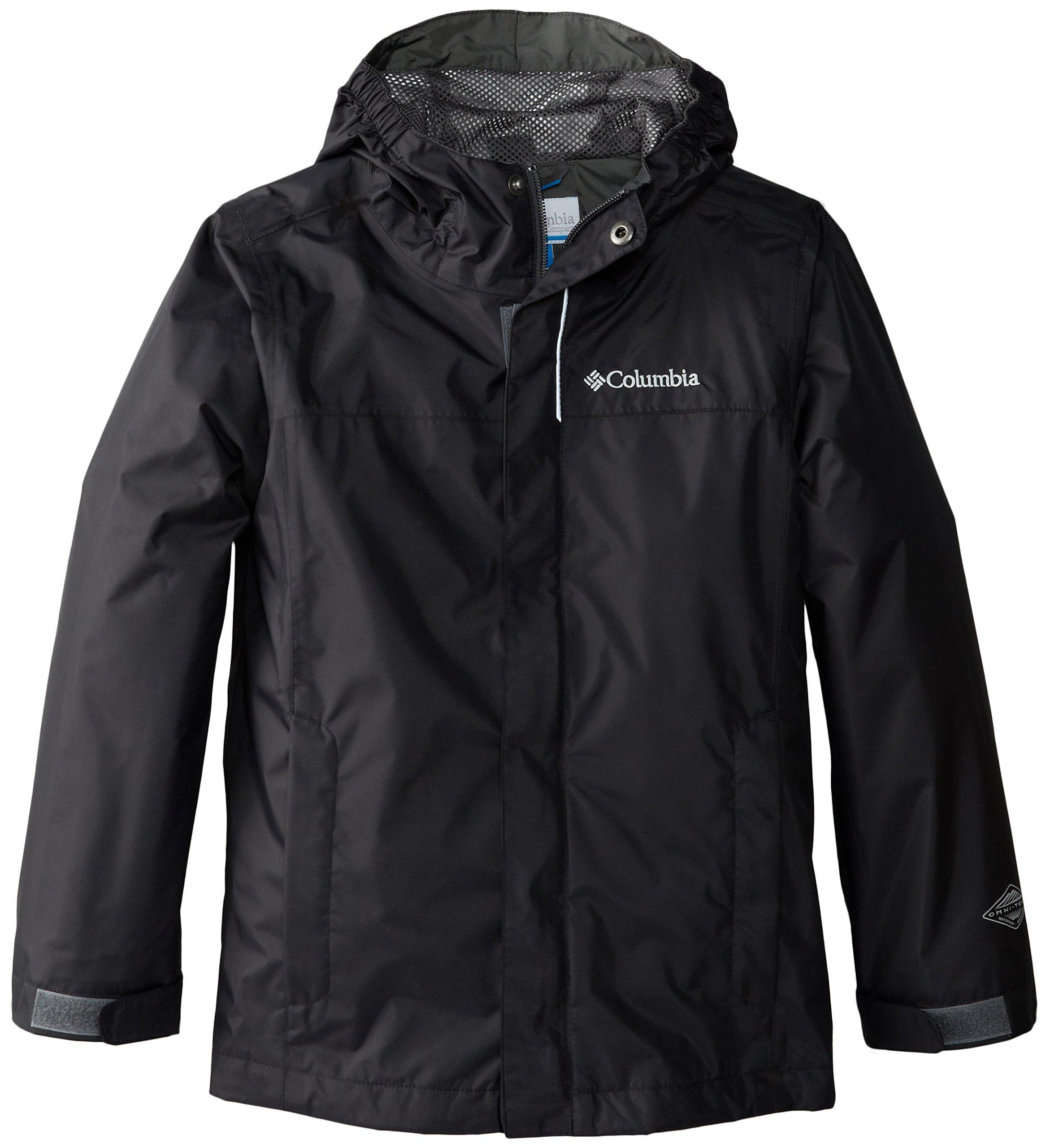 Columbia Little Boys' Watertight Jacket, Black, X-Small