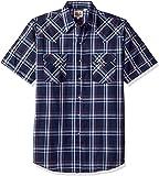 Ely & Walker Mens 15A2707-TQR Short Sleeve Plaid Western Shirt Plaid Short Sleeve Button-Down Shirt