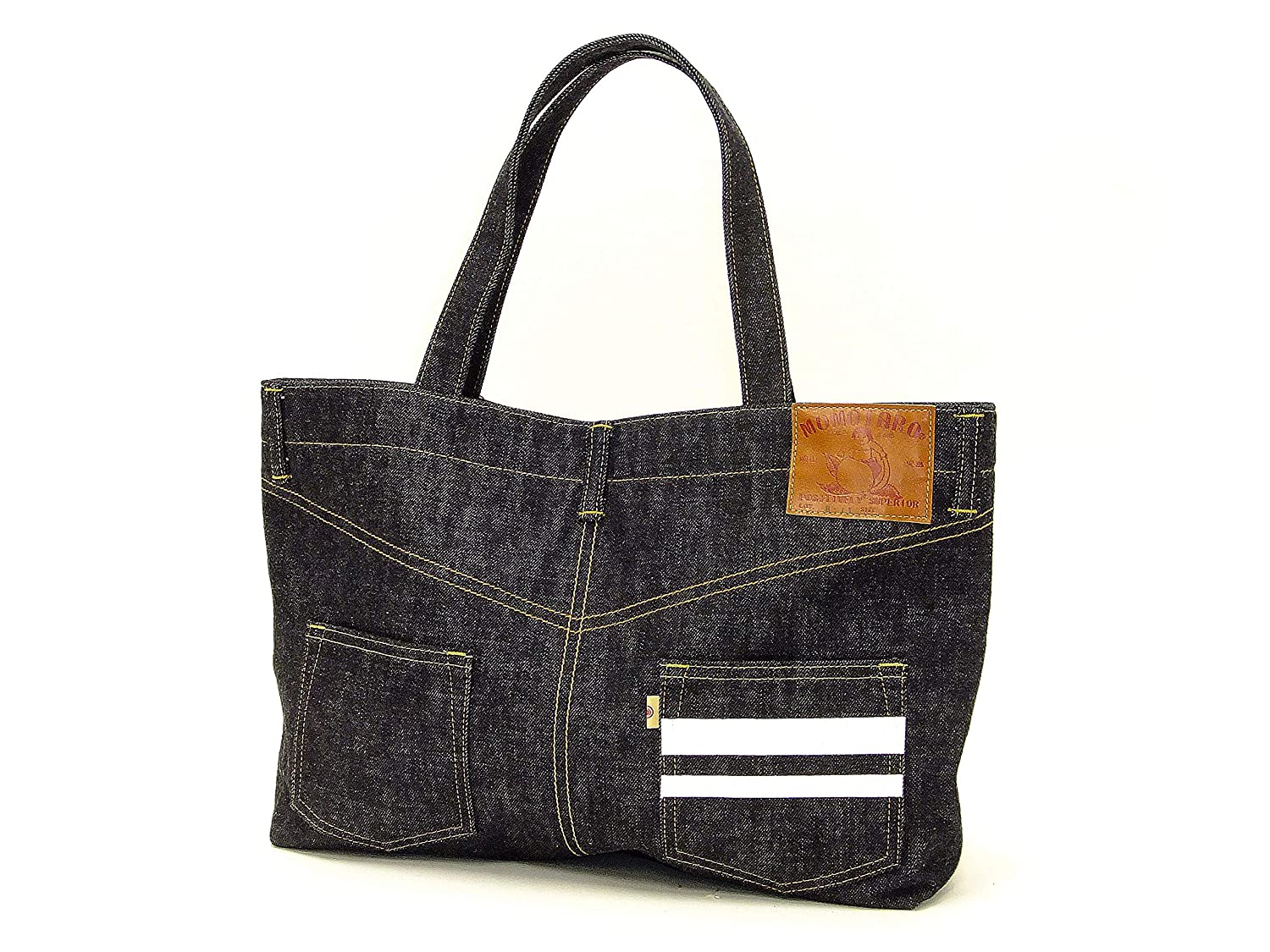 Momotaro Jeans Jean Style Tote Bag A4 Mens Casual Japanese Denim Bag B-11-S One/_Size