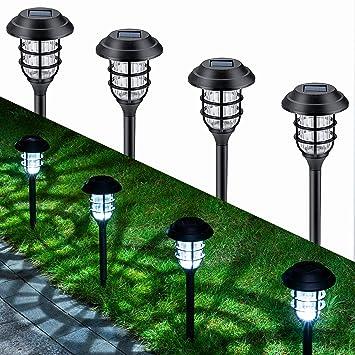 TWINSLUXES 8 Pack Solar Lights Outdoor Pathway Waterproof Garden Walkway Lights LED Landscape Lighting Solar Powered Auto On//Off Dusk to Dawn for Garden Yard Patio Lawn Warm White Sidewalk