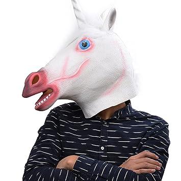 Party Story Unicornio Máscara de Animal de Látex Novedad Disfraz de Halloween Máscaras Máscara de Unicornio