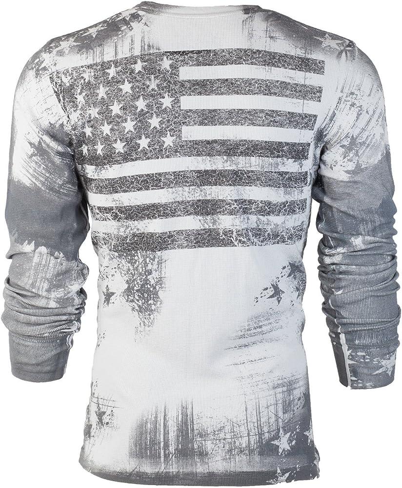 Affliction Mens T-Shirt Dead Alive Guns Tattoo Motorcycle Biker UFC