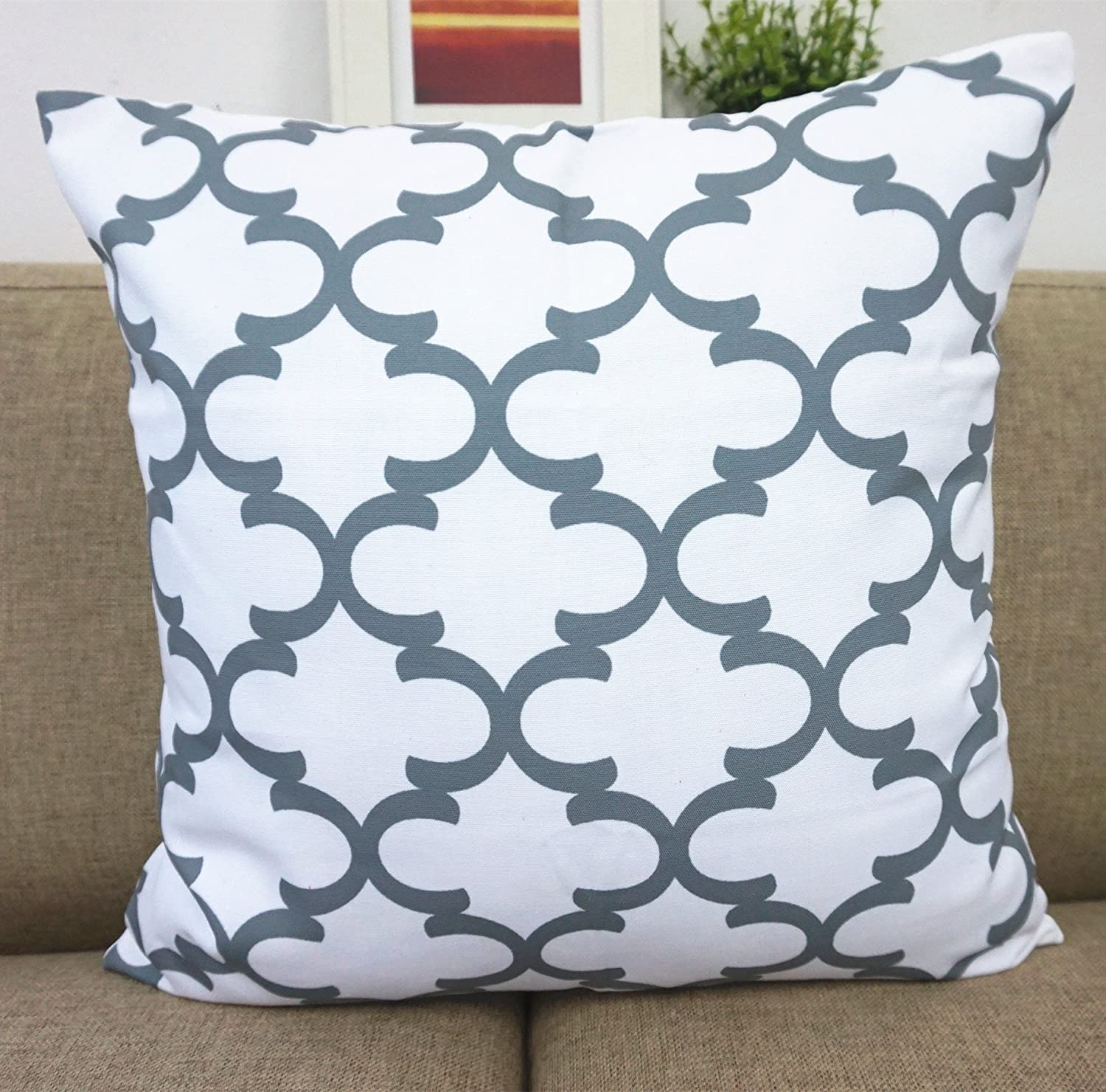 amazoncom howarmer canvas cotton cushion cover geometric  - amazoncom howarmer canvas cotton cushion cover geometric pattern  xinch set of  home  kitchen