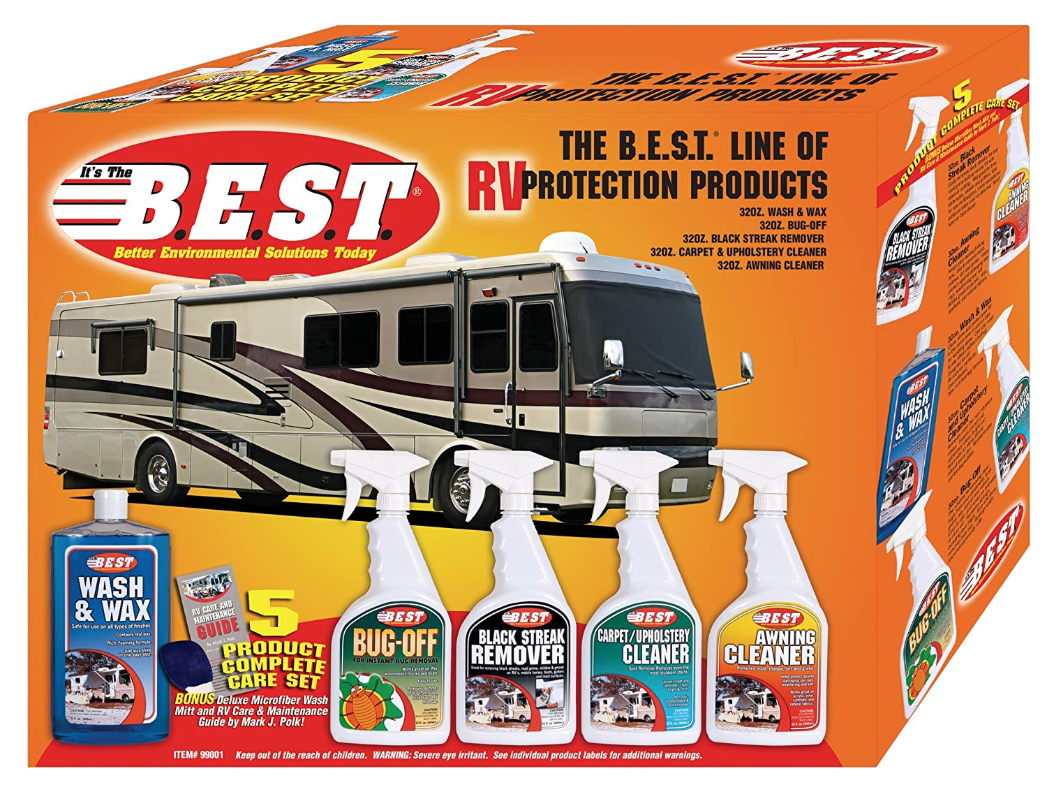 B.E.S.T. . . 99001 RV Cleaning Kit - 5 Piece
