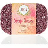 Aira Soap Saver - Soap Dish & Soap Holder Accessory - BPA Free Shower & Bath Soap Holder - Drains Water, Circulates Air, Maximizes Soap Life - Easy to Clean, Fits All Soap Dish Sets - Raspberry