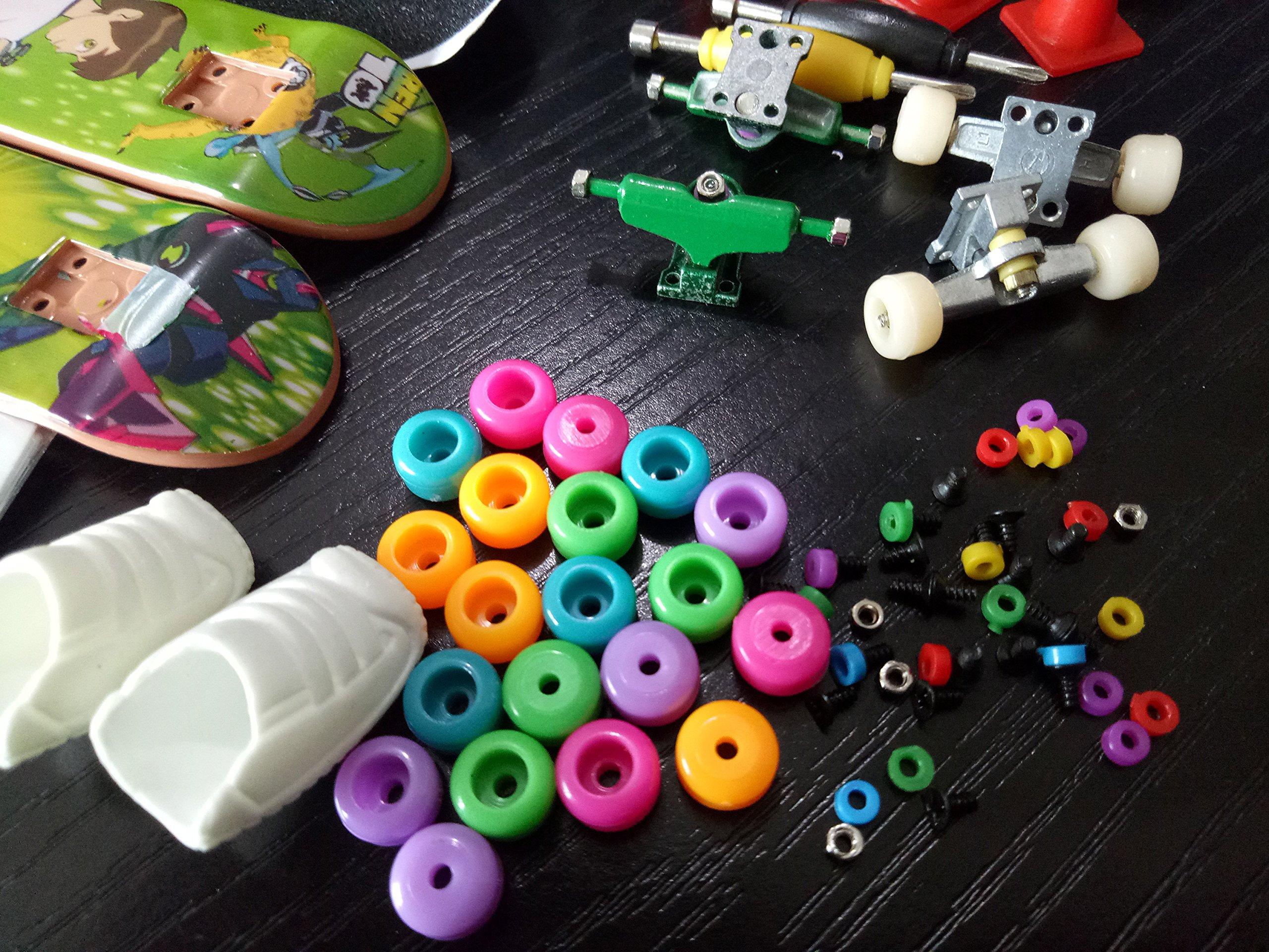 Fanci ABS Finger Skateboard Set Double Rocker DIY Mini Finger Boarding Toy with Storage Box by Fanci (Image #6)