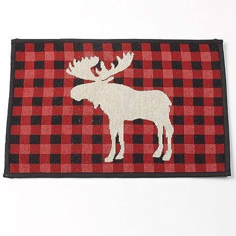 Amazon.com: petrageous 14073 Moose tapiz mantel individual ...
