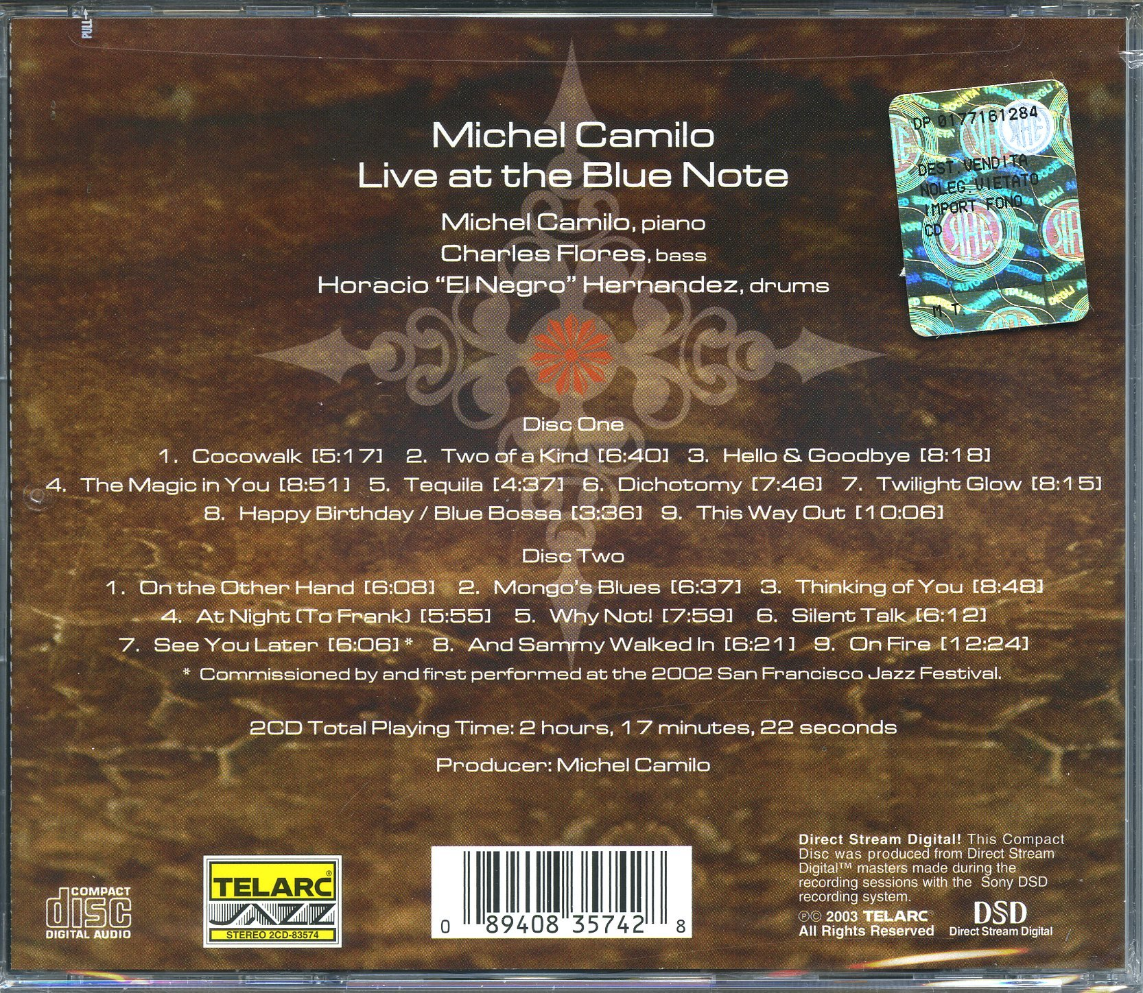 Live At The Blue Note [2 CD] by CAMILIO,MICHEL