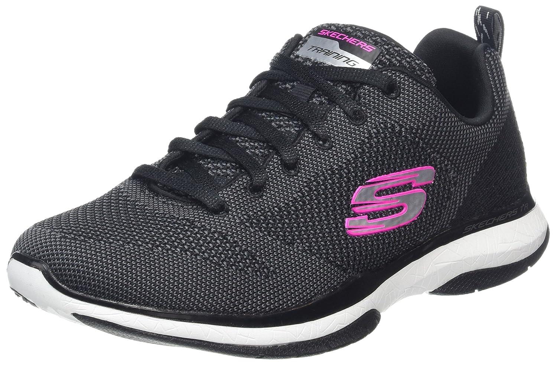 Skechers Burst TR-Close Knit, Zapatillas para Mujer 38 EU|Negro (Black/White)
