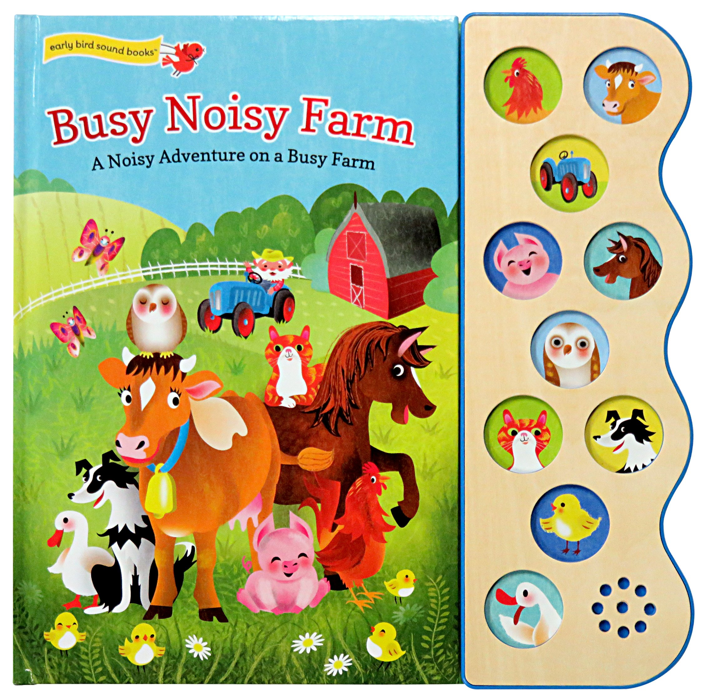 My Noisy Farm. A childrens picture book with extra first word pages