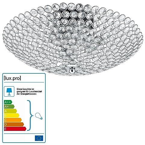 kristall deckenleuchte kronleuchter vapora von luxpro decken - Beleuchtung Wohnzimmer Lux