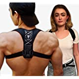 Posture Corrector: Upper Back Brace And Clavicle Support Plus Bonus Resistance Band. Correct Bad Posture, Rounded Shoulders, And Relieve Back And Neck Pain - Perfect For Both Men And Women