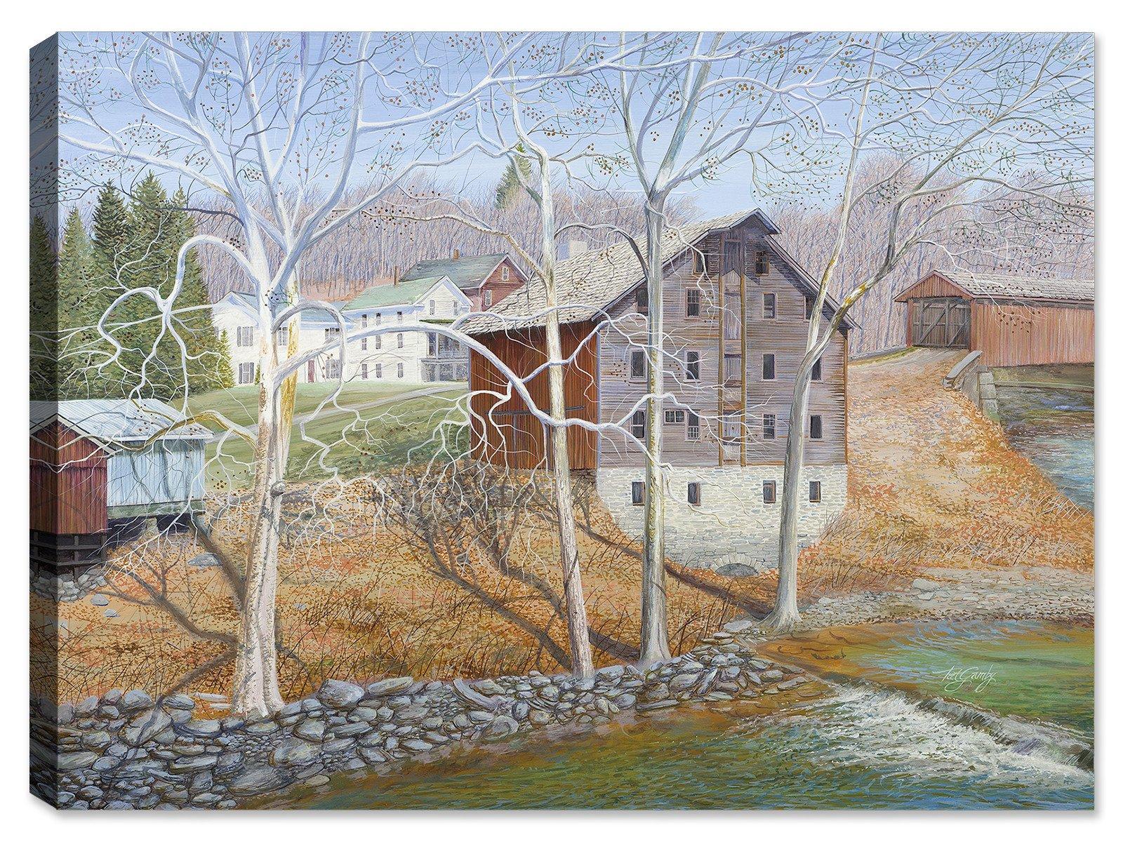 Gristmill River -Outdoor Wall Art - Weatherprint - Weatherproof Art for Indoor or Outdoor Canvas Art