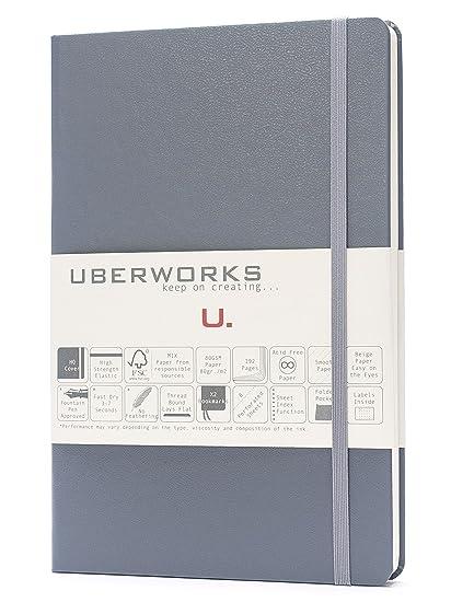 amazon com uberworks tehnik classic hardcover dotted notebook