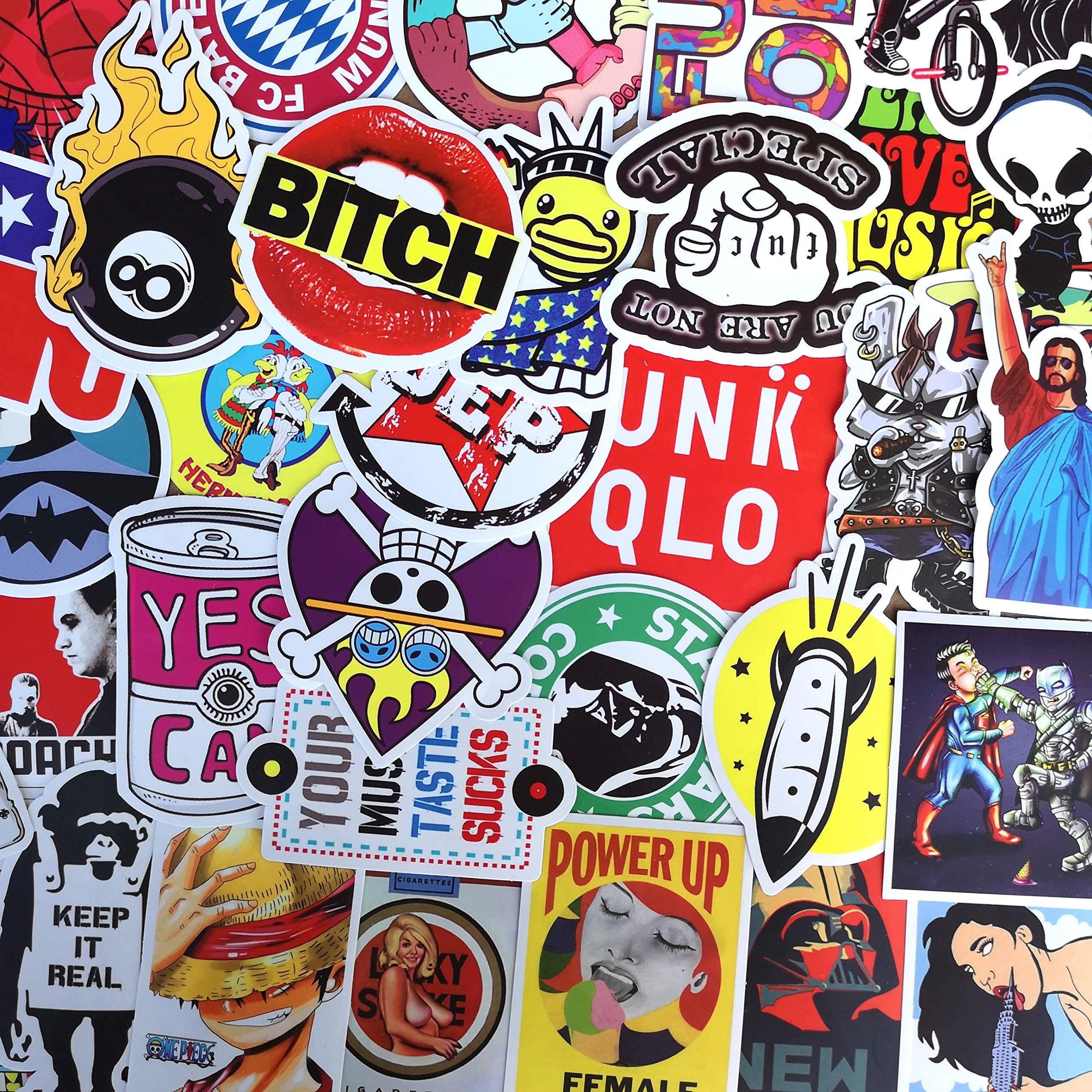 Stickers Calcos 100 un. Surtidos Origen U.S.A. (7RQL8L6J)