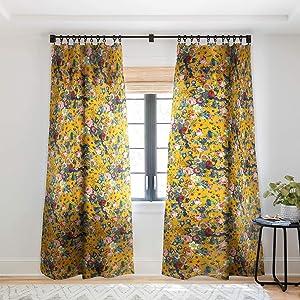 Society6 Burcu Korkmazyurek Summer Botanical Garden IX Sheer Curtains, 50