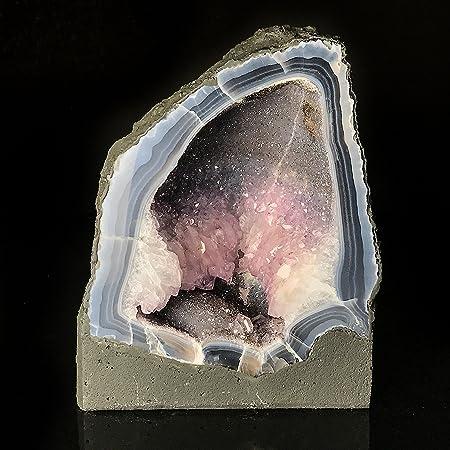 Astro Gallery of Gems Blue Lace Agate Amethyst Geode - BLA5: Amazon