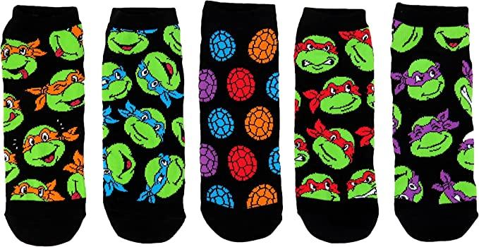 Nickelodeon Ninja Turtles 3 Pair Slipper Socks Size 3-5T