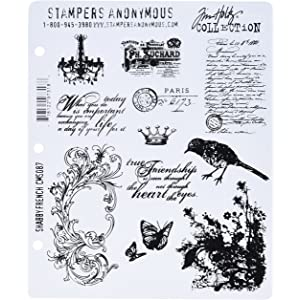 """Tim Holtz Cling Stamps 7/""""X8.5/""""-Theories"""