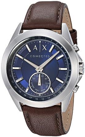 Armani Exchange Reloj Analogico para Hombre de Cuarzo con Correa en Cuero AXT1010: Amazon.es: Relojes