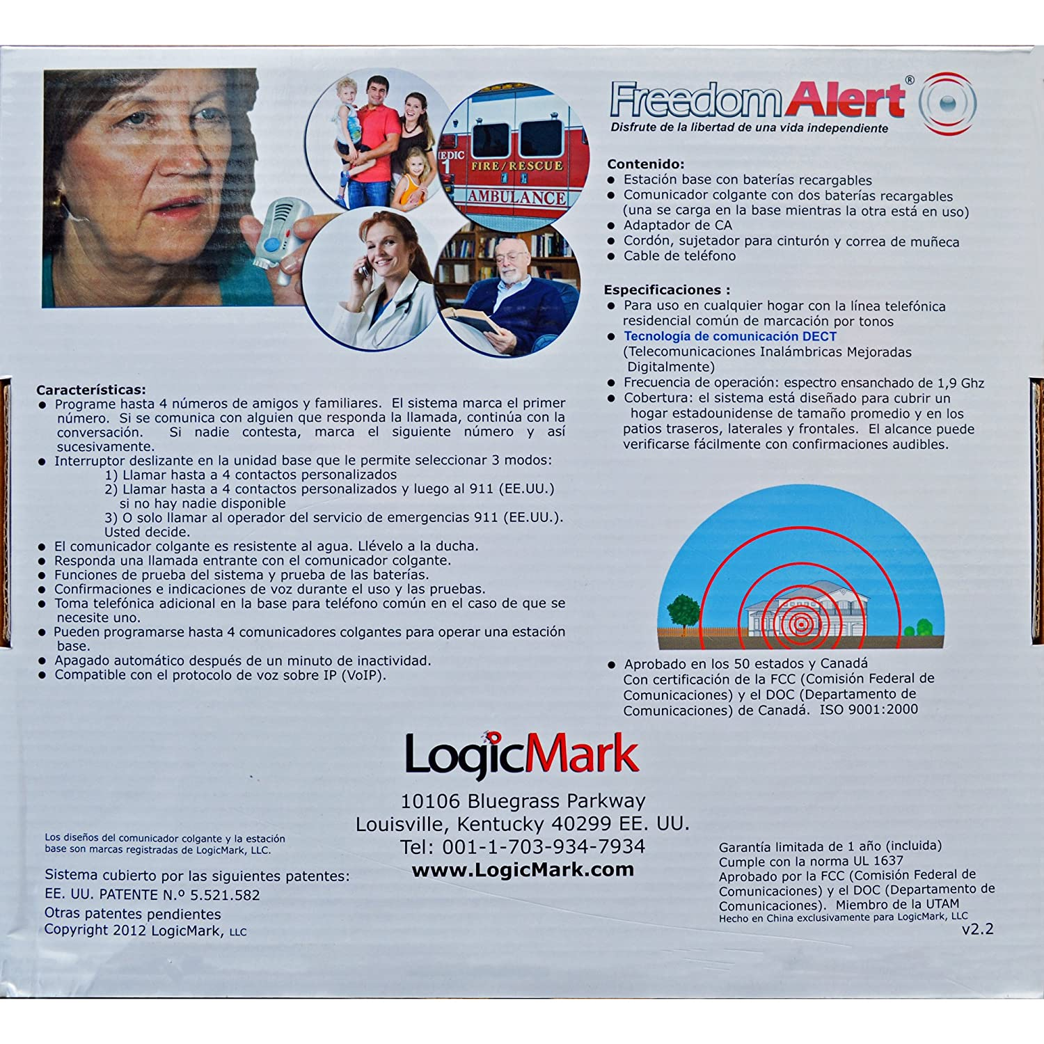 Amazon.com: Logicmark Freedomalert Spanish Speaking Emergency Help System: Health & Personal Care
