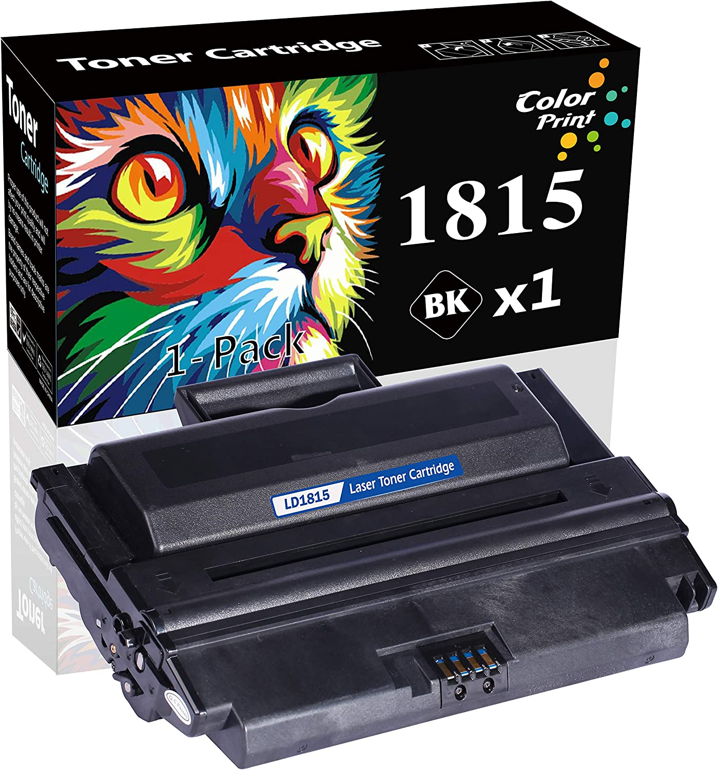 1-Pack ColorPrint Compatible Toner Cartridge Replacement for Dell 1815DN 1815 Used for 310-7943 NF485 0PF658 RF223 PF656 310-7945 Printer (Black, 5,000 Pages)
