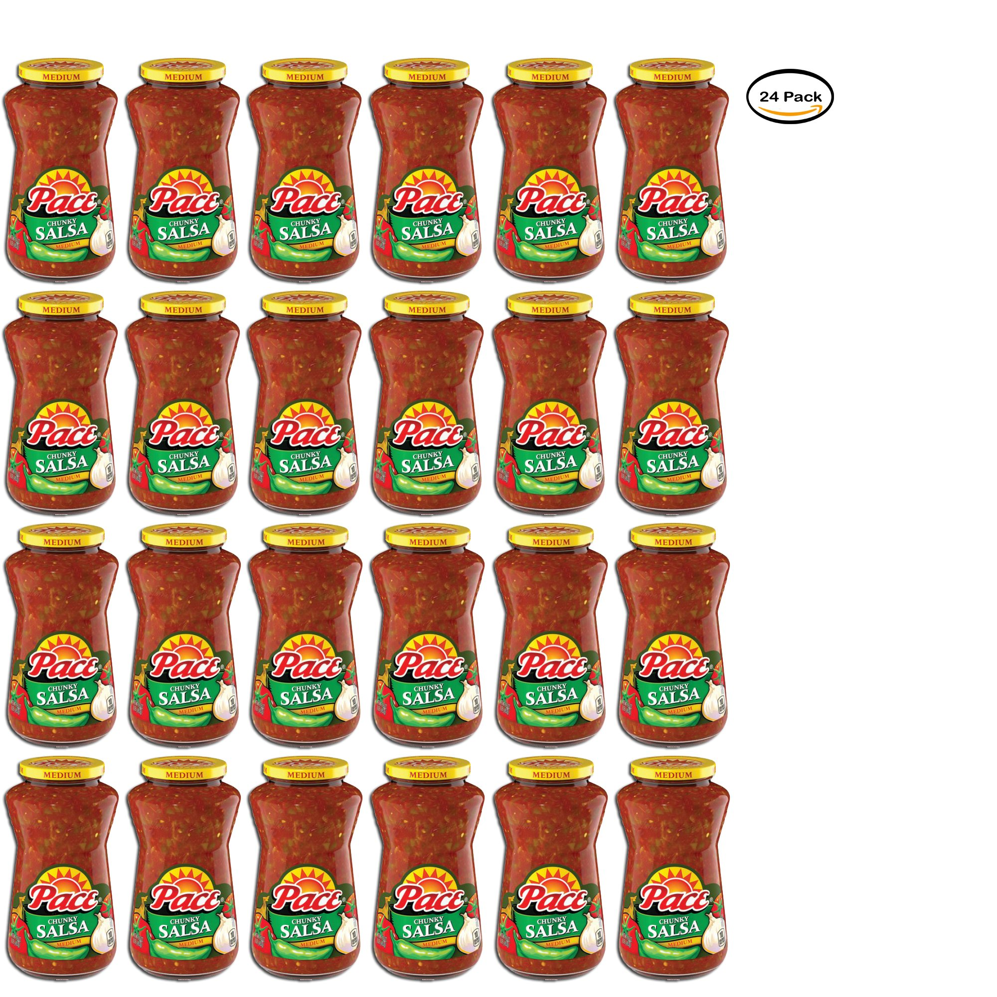 PACK OF 24 - Pace Chunky Salsa Medium, 16 oz.