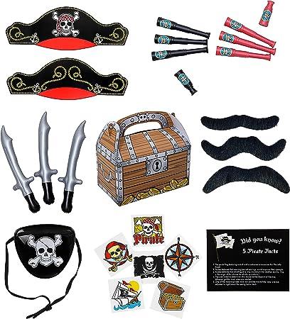 Amazon.com: Suministros y motivos de fiesta de piratas y ...