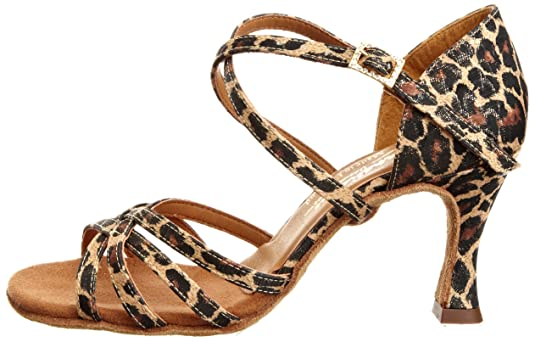 International Dance Shoes INUFT0043 - Zapatillas de danza de tela para mujer, color dorado, talla 41