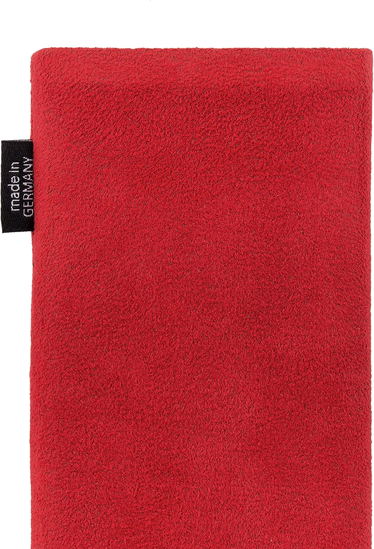 Fabriqu/é en Allemagne | Nettoyage de l/'/écran 2020 fitBAG Classic Rouge Pochette customis/ée adapt/ée Housse de Protection pour Apple iPhone 8 // Se 2