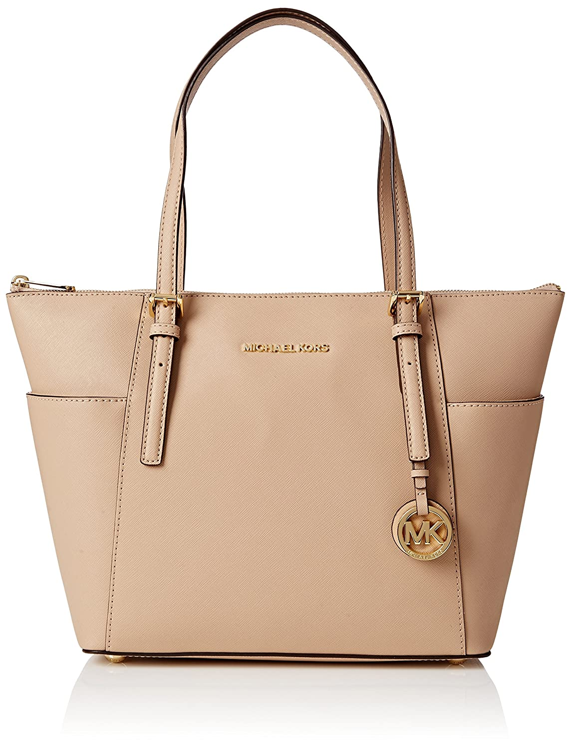 b0e8056b8d30 Michael Kors Womens Jet Set Item Tote, Beige (Oyster), 11.4x25.4x38.1 cm (W  x H x L): Amazon.co.uk: Shoes & Bags