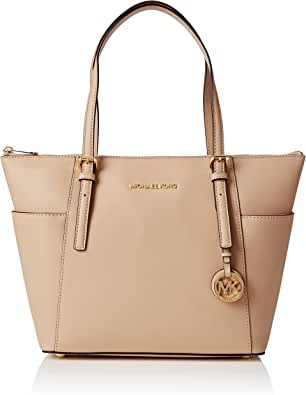 MICHAEL Michael Kors Jet Set Top-Zip Tote (Oyster)