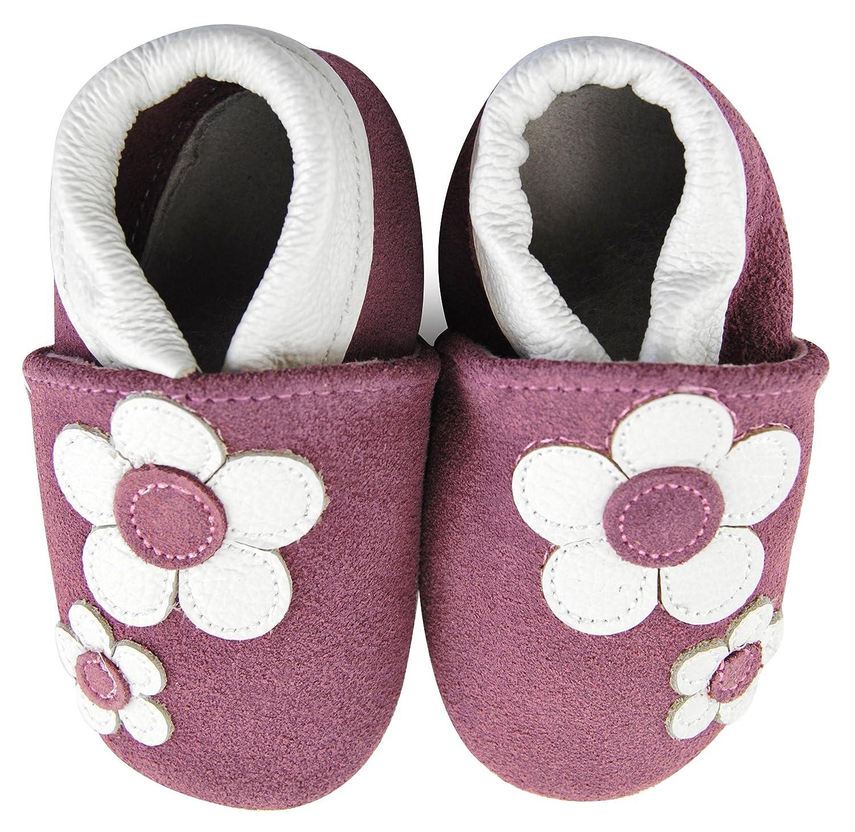 Axy bébé chaussons chaussures en cuir Chaussures bébé enfant Jardin Chaussures–Flower
