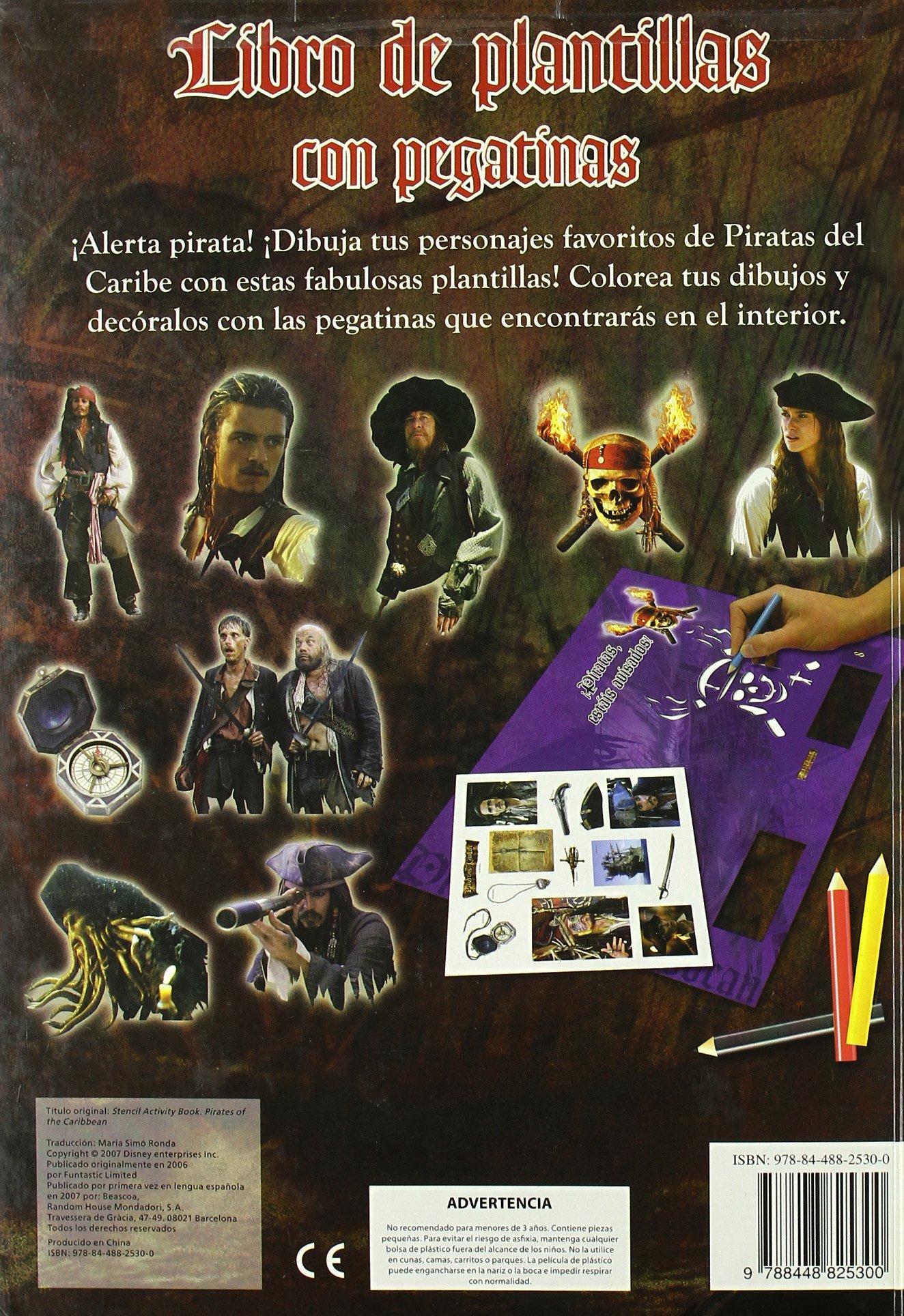 LIBRO DE PLANTILLAS. PIRATAS DEL CARIBE (INC.PEGATINAS): 9788448825300: Amazon.com: Books