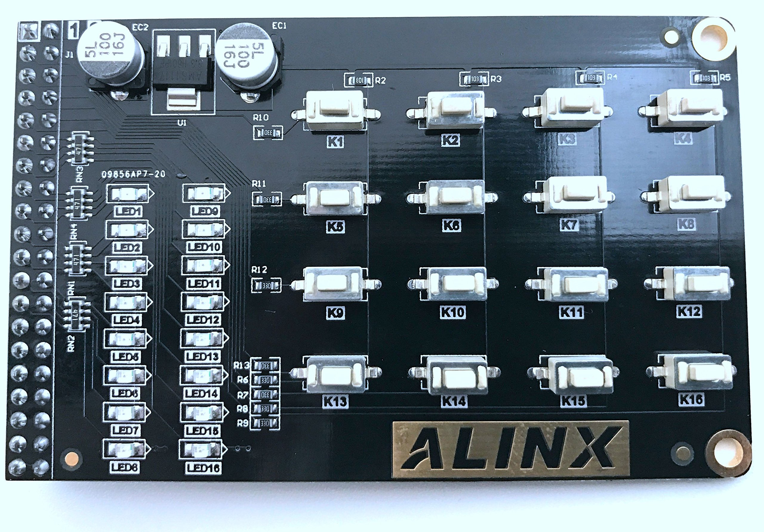 Alinx 44 Matrix Button LED Expansion Module 40-pins Directly-pluggable into ALINX Serial FPGA Development Board AN0404