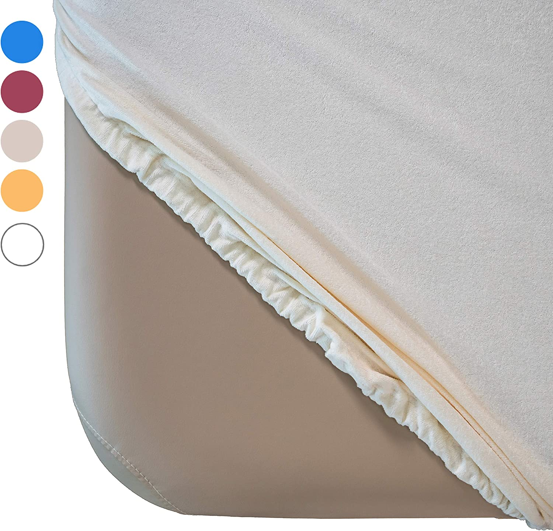 Zen Housse Drap-housse tissu /éponge couleur cr/ème